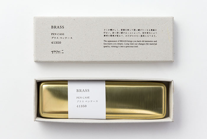Midori Brass embalaje del estuche de latón