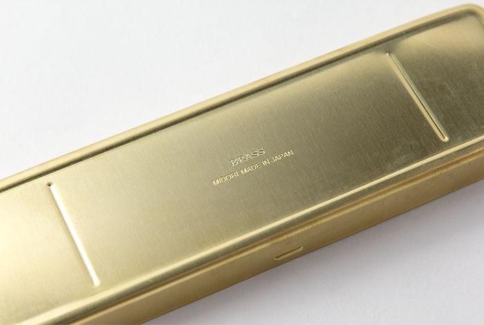 Midori Brass estuche de latón (detalle)