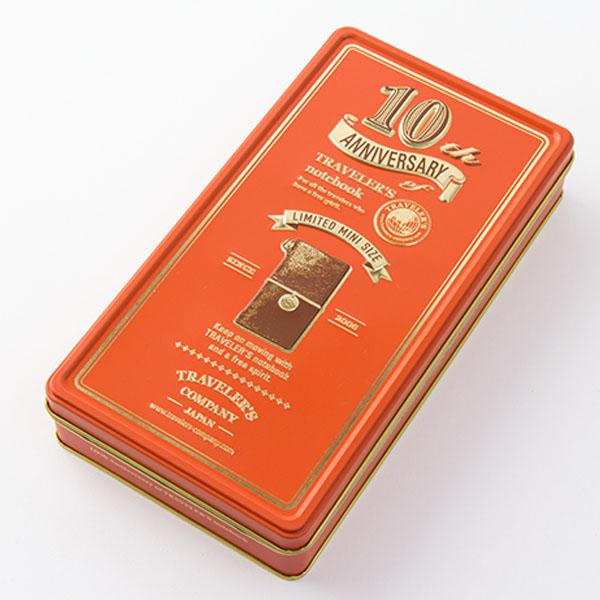 Midori Traveler's Notebook Mini (10th Anniversary Edition) Rojo