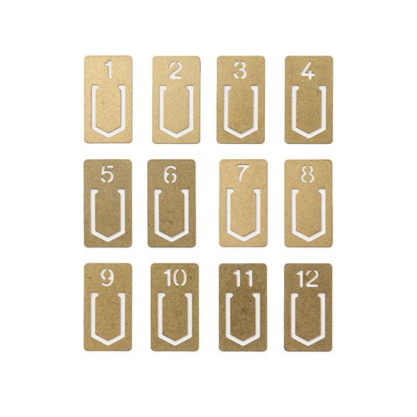Marcapáginas de metal Midori (12 unidades)