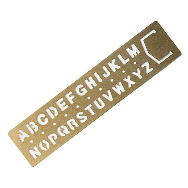 TRC Brass Plantilla marcapáginas (alfabeto)