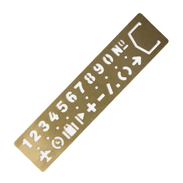 TRC Brass Plantilla marcapáginas (numérica y símbolos)