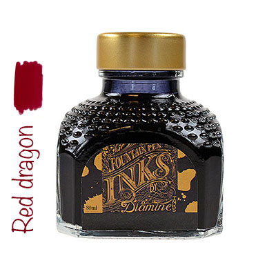 Tinta Diamine Red dragon
