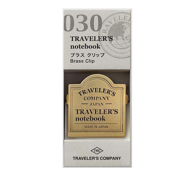 TRC 030 Brass Clip Logo - Traveler's Company 1