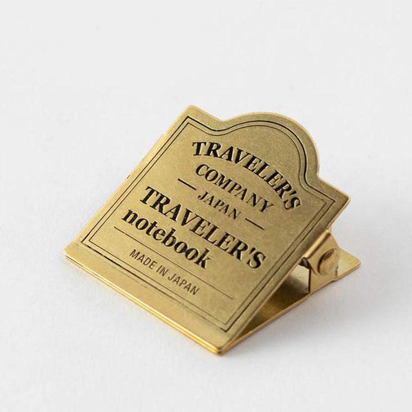 TRC 030 Brass Clip Logo - Traveler's Company