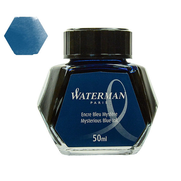 Tinta Waterman Azul Negro 50 ml